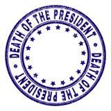 Grunge texturerade DÖD AV PRESIDENTEN Round Stamp Seal royaltyfri illustrationer
