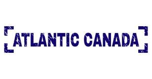 Grunge texturerade den ATLANTISKA KANADA stämpelskyddsremsan inom hörn royaltyfri illustrationer