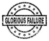 Grunge texturerade den HÄRLIGA FELstämpelskyddsremsan stock illustrationer