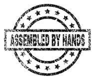 Grunge texturerade FÖRSAMLAT VID HANDstämpelskyddsremsan royaltyfri illustrationer