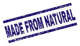 Grunge texturerade GJORT FRÅN den NATURLIGA stämpelskyddsremsan vektor illustrationer