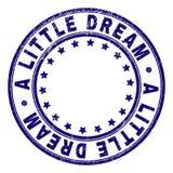 Grunge texturerade LITE den DRÖM- runda stämpelskyddsremsan stock illustrationer