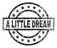 Grunge texturerade LITE den DRÖM- stämpelskyddsremsan royaltyfri illustrationer