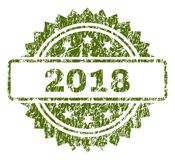 Grunge texturerade skyddsremsan för 2018 stämpel Vektor Illustrationer
