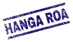 Grunge texturerade stämpelskyddsremsan för HANGA ROA royaltyfri illustrationer