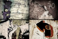 Grunge textures. Four different grunge textures in full resolution Stock Images