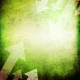 Grunge textures and backgrounds. Green grunge textures and backgrounds with arrow Stock Images
