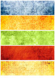 Grunge textures and backgrounds for banners Stock Image