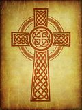 grunge textures with celtic cross Royalty Free Stock Photography