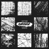 Grunge Textures for design or dirty style on black background Stock Photography
