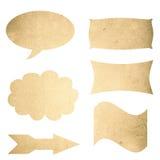 Grunge textures la muestra en blanco Fotos de archivo