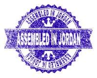Grunge texturisé S'EST RÉUNI EN JORDAN Stamp Seal avec le ruban illustration stock