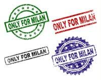 Grunge texturisé SEULEMENT POUR MILAN Seal Stamps Illustration Libre de Droits