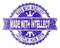 Grunge texturizado HECHO CON el sello del sello del INTELECTO con la cinta stock de ilustración