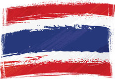 Grunge Thailand flag Stock Photo