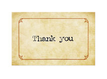 Grunge Thank You Card royalty free stock image