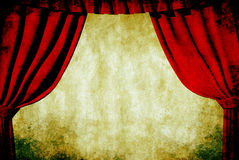 Grunge theatre Stock Images
