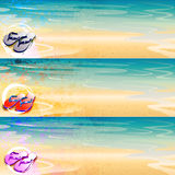 Grunge thong banner set Royalty Free Stock Photos
