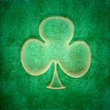 Grunge three-leaf clover Stock Photography