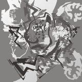 Grunge tiger background Stock Photo