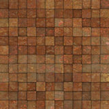 Grunge tile mosaic wall floor orange pink yellow Royalty Free Stock Images
