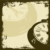 Grunge time. Time themed grunge background - lots of detail Stock Image