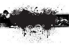 grunge Tintenhintergrund Lizenzfreies Stockfoto