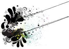 Grunge Tintenhintergrund Lizenzfreies Stockbild