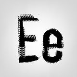 Grunge Tire Letter Royalty Free Stock Photography