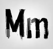Grunge Tire Letter vector illustration