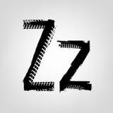 Grunge Tire Letter Stock Image