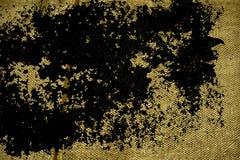 Grunge tkaniny brudna Ultra żółta Bieliźniana powierzchnia dla egzaminu próbnego lub projektanta use, książkowej pokrywy próbka,  Obrazy Royalty Free