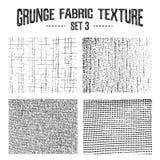 Grunge tkaniny tekstury ustawiają 3 Obraz Royalty Free
