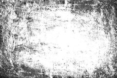 Grunge tło, Stara Ramowa Czarna Biała tekstura, Brudzi papier Obrazy Stock