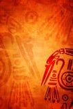 Grunge tło z Amerykańsko-indiański tradycyjnymi wzorami Obraz Stock