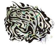 Grunge toad symbol Stock Photo