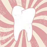 Grunge tooth Royalty Free Stock Images