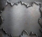 Grunge torn metal background Stock Images