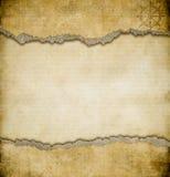 Grunge Torn Paper Vintage Map Background Stock Image