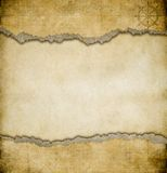 Grunge torn paper vintage map background stock image