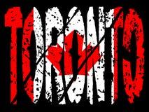Grunge Toronto Canadian flag Stock Photography