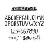 Grunge tough simple font. Universal alphabet Stock Images