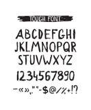 Grunge tough simple font. Universal alphabet Royalty Free Stock Photos