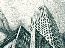 Grunge tower Stock Image