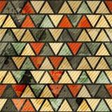 Grunge trójboka bezszwowy wzór Fotografia Stock