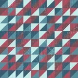 Grunge trójboka wzór Obrazy Royalty Free