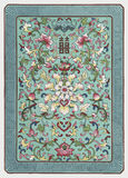 Grunge tradycyjni chińskie kwiecisty ornament zdjęcia stock
