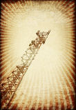 Grunge transmitter tower. Royalty Free Stock Image