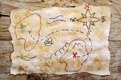Grunge treasure map Royalty Free Stock Photography