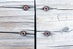 Grunge treated wood joint background Royalty Free Stock Image